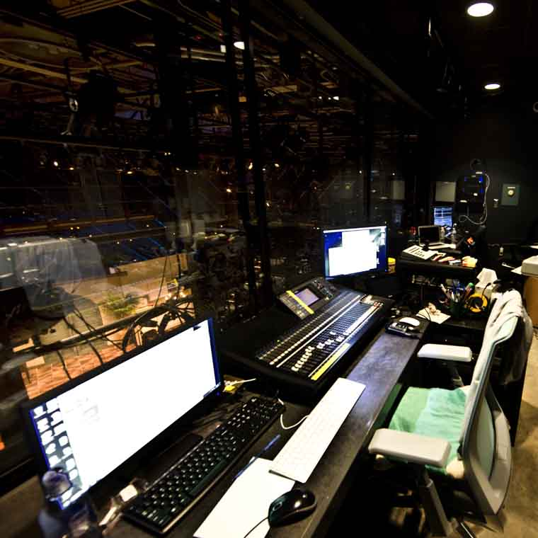 CATF Marinoff Theater Control Room.