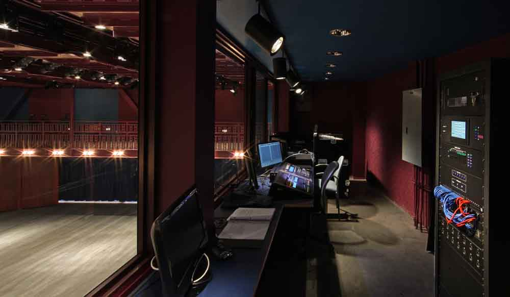 Hylton Performing Arts Center 200-seat Gregory Family Theater control room.