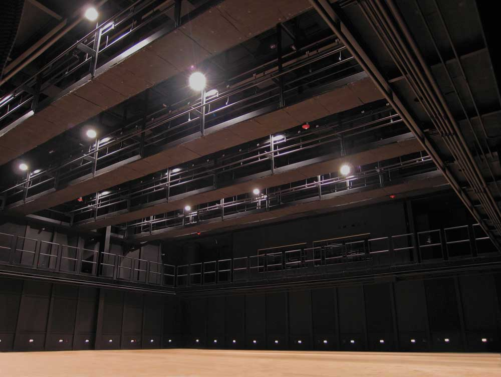 Black Box Interior Photograph During Construction