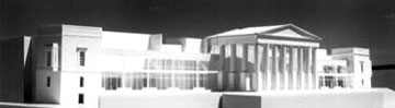Architectural model of BTI Performing Arts Center