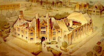 Cutaway rendering of Philips Memorial Hall
